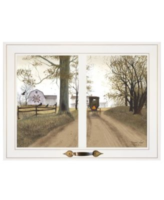 """Heading Home by Billy Jacobs, Ready to hang Framed Print, White Window-Style Frame, 19"""" x 15"""""""