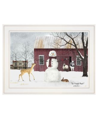 """The Friendly Beasts by Billy Jacobs, Ready to hang Framed Print, White Frame, 19"""" x 15"""""""