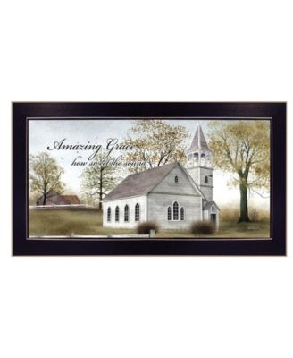 """Amazing Grace By Billy Jacobs, Printed Wall Art, Ready to hang, Black Frame, 20"""" x 11"""""""
