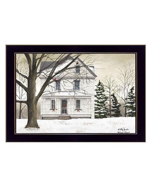 "Trendy Decor 4U Trendy Decor 4U Winter Porch By Billy Jacobs, Printed Wall Art, Ready to hang, Black Frame, 26"" x 20"""