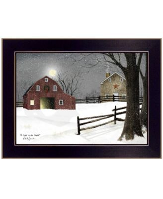 """Light in the Stable by Billy Jacobs, Ready to hang Framed Print, Black Frame, 26"""" x 20"""""""