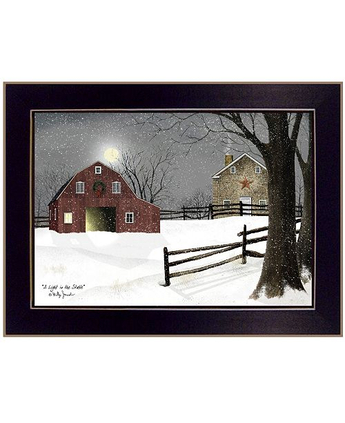 "Trendy Decor 4U Trendy Decor 4U Light in the Stable by Billy Jacobs, Ready to hang Framed Print, Black Frame, 26"" x 20"""