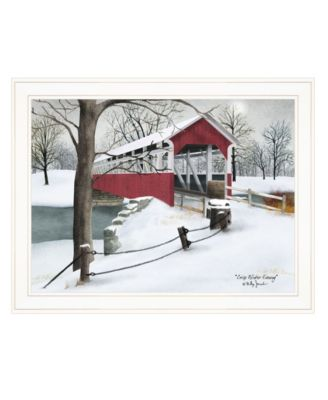 """Crisp Winter Evening by Billy Jacobs, Ready to hang Framed Print, White Frame, 27"""" x 21"""""""