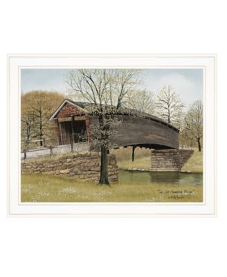 """The Old Humpback Bridge by Billy Jacobs, Ready to hang Framed Print, White Frame, 27"""" x 21"""""""
