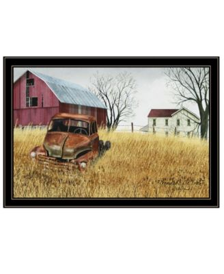 """Granddad's Old Truck by Billy Jacobs, Ready to hang Framed Print, Black Frame, 33"""" x 23"""""""