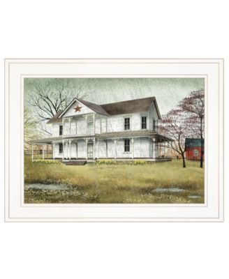 """April Showers by Billy Jacobs, Ready to hang Framed Print, White Frame, 19"""" x 15"""""""