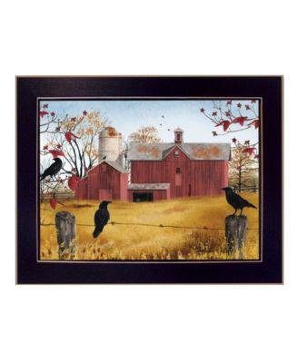 """Autumn Gold By Billy Jacobs, Printed Wall Art, Ready to hang, Black Frame, 18"""" x 14"""""""