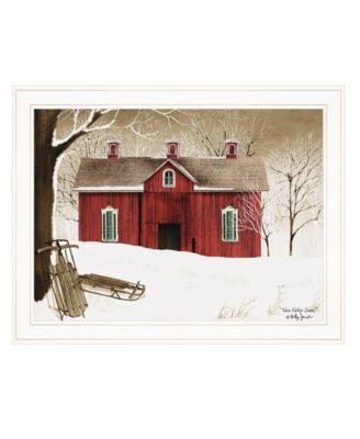 """New Fallen Snow by Billy Jacobs, Ready to hang Framed Print, White Frame, 27"""" x 21"""""""