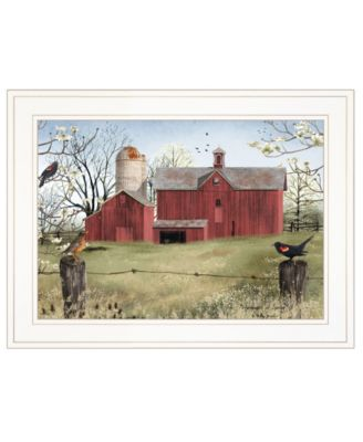 """Harbingers of Spring by Billy Jacobs, Ready to hang Framed Print, White Frame, 27"""" x 21"""""""