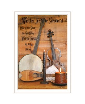 """Music by Billy Jacobs, Ready to hang Framed Print, White Frame, 23"""" x 33"""""""
