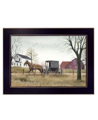 """Goin' to Market By Billy Jacobs, Printed Wall Art, Ready to hang, Black Frame, 14"""" x 20"""""""
