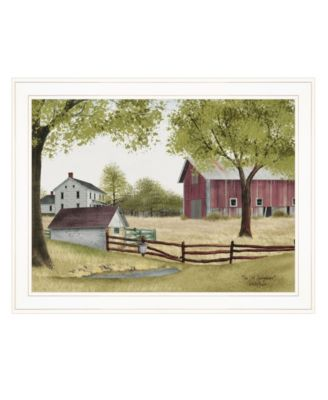 """The Old Spring House by Billy Jacobs, Ready to hang Framed Print, White Frame, 27"""" x 21"""""""