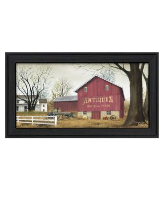 """Antique Barn By Billy Jacobs, Printed Wall Art, Ready to hang, Black Frame, 21"""" x 12"""""""