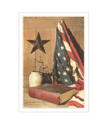 """God and Country by Billy Jacobs, Ready to hang Framed Print, White Frame, 23"""" x 33"""""""