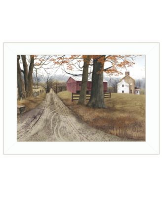 """The Road Home by Billy Jacobs, Ready to hang Framed Print, White Frame, 21"""" x 15"""""""