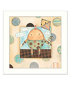 "Humpty Dumpty By Bernadette Deming, Printed Wall Art, Ready to hang, White Frame, 14"" x 14"""