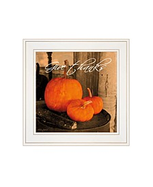 """Give Thanks by Anthony Smith, Ready to hang Framed Print, White Frame, 15"""" x 15"""""""