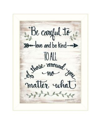 """Be Careful by Annie LaPoint, Ready to hang Framed Print, White Frame, 18"""" x 14"""""""