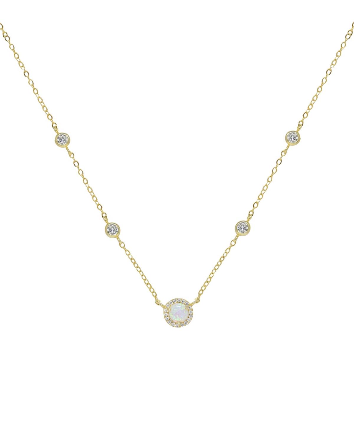 Ettika Olivia Opal and Crystal Necklace