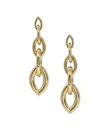 Gradual Gold Chain Link Earrings