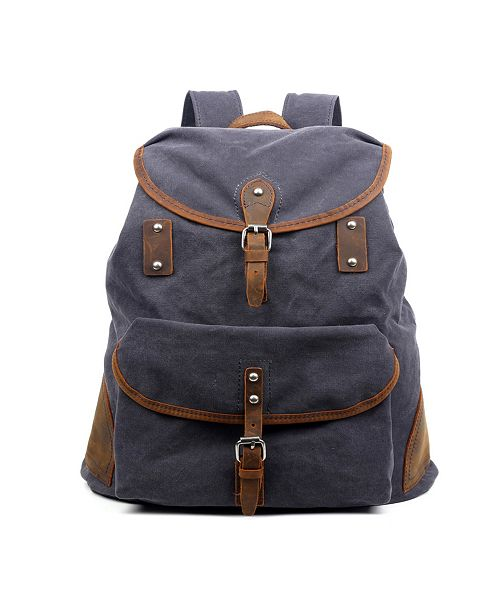 TSD BRAND Milo Canvas Backpack
