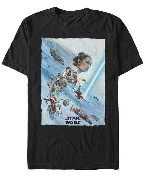Star Wars Men's Rise of Skywalker Rey Poster T-shirt