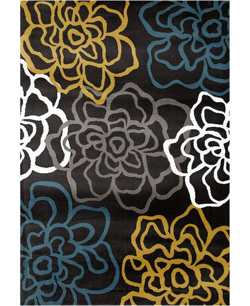 Main Street Rugs Home Montane Mon108 Gray/Yellow Area Rug Collection