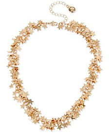 """Gold-Tone Shaky Star Collar Necklace, 14"""" + 3"""" extender"""