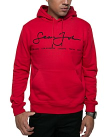 Men's Regular-Fit Script Logo Hoodie