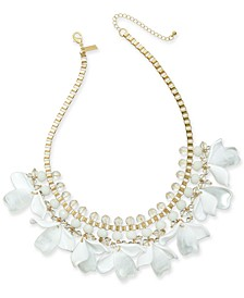 "INC Gold-Tone Petal Shaky Statement Necklace, 18"" + 3"" extender, Created for Macy's"