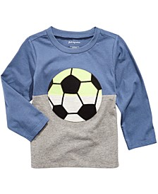 Toddler Boys Soccer-Print Colorblocked T-Shirt, Created For Macy's