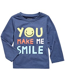 Baby Boys Smile-Print Cotton T-Shirt, Created For Macy's