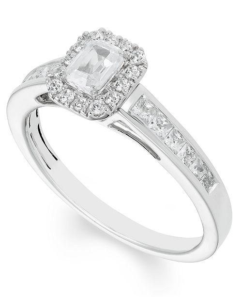 Macy's Certified Diamond (4/5 ct. t.w.) Engagement Ring in 14k White Gold