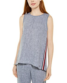 High-Low Woven Top, Created For Macy's
