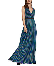 BCBGMAXAZRIA Accordion-Pleat Gown