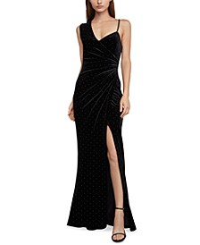 Asymmetrical-Neck Gown