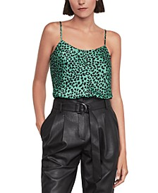 Leopard-Print Tie-Back Top