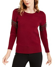 Embellished Fringe Sweater, Created For Macy's