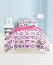 Heart Print 2-Piece Twin Comforter Set