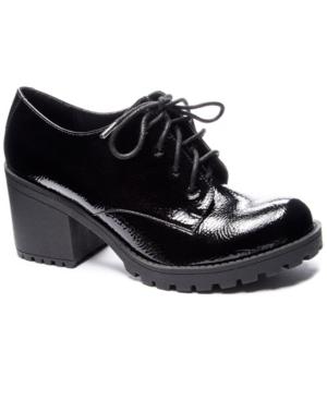 Lisette Black Heel Oxford Loafers Women's Shoes