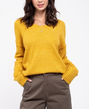Blu Pepper Reverse Seam Knit Sweater