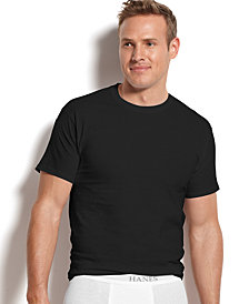 Hanes Men's Platinum FreshIQ™ Underwear, 4 Pack Crew Neck Undershirts