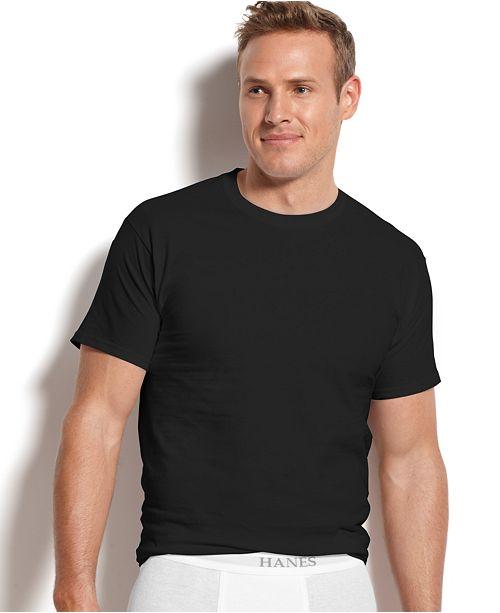 19f2a3258cb Hanes Men's Platinum FreshIQ™ Underwear, 4 Pack Crew Neck Undershirts
