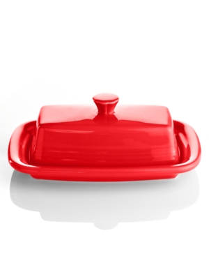 Fiesta Scarlet Xl Covered Butter Dish