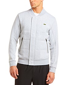 Men's Quilted Fleece Bomber Jacket