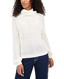 Juniors' Cowl-Neck Sweater