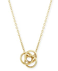 Love Knot Necklace Set in 14k Yellow Gold