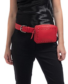 Self-Color Stud Convertible Belt Bag