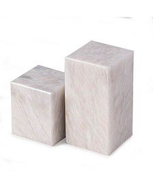 Marble Cube Design Bookends