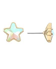 Gold-Tone Star Stud Earrings